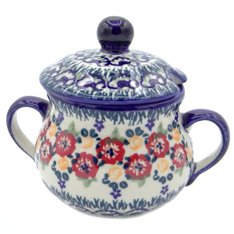 SilverrushStyle - Polish Pottery Sugar Bowl - Summer Bouquet Collection
