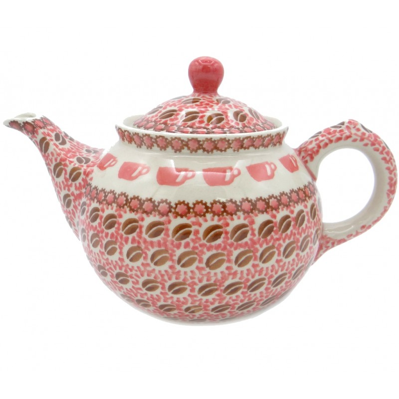 SilverrushStyle - Polish Pottery Regular Teapot - Coffee Bean Collection