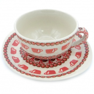 SilverrushStyle - Polish Pottery Teacup & Saucer - Coffee Bean Collection