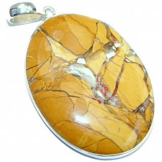 Genuine Australian Brecciated Mookaite Sterling Silver handcrafted Pendant
