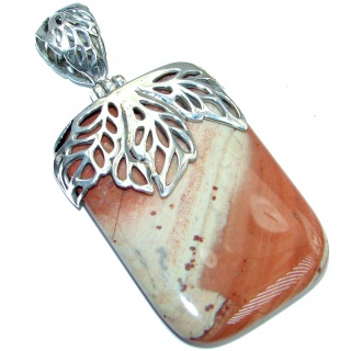 Genuine Australian Mookaite Sterling Silver handcrafted Pendant