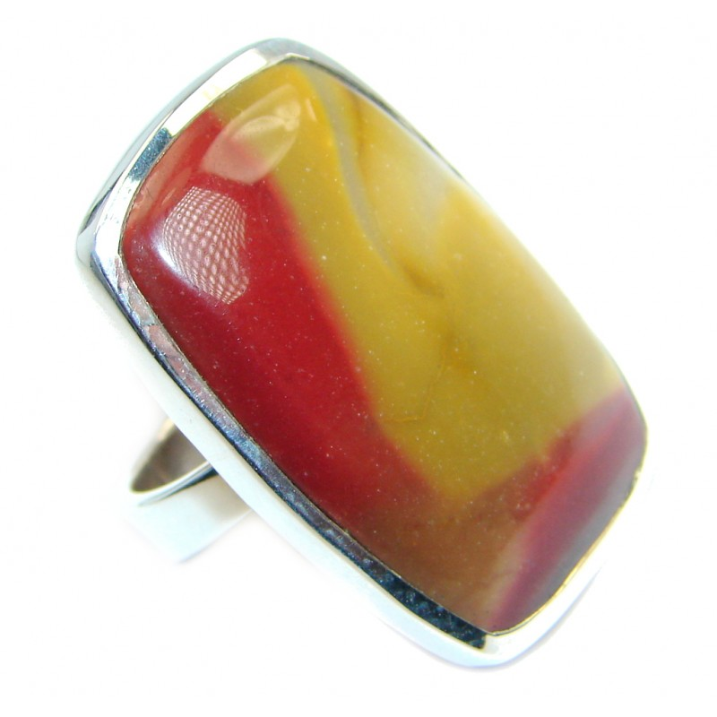 Authentic Australian Mookaite Sterling Silver Ring size 7