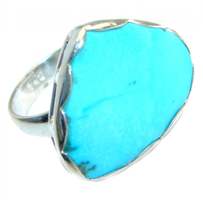 Sleeping Beauty Turquoise Sterling Silver Ring size 6