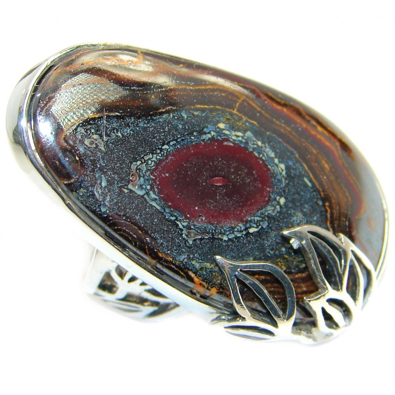 Beautiful genuine Australian Koroit Sterling Silver handcrafted Ring size 7 adjustable