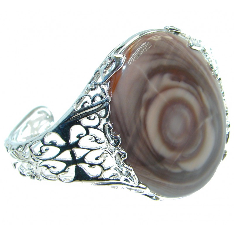 Bohemian Style Excellent quality Imperial Jasper Sterling Silver Bracelet / Cuff