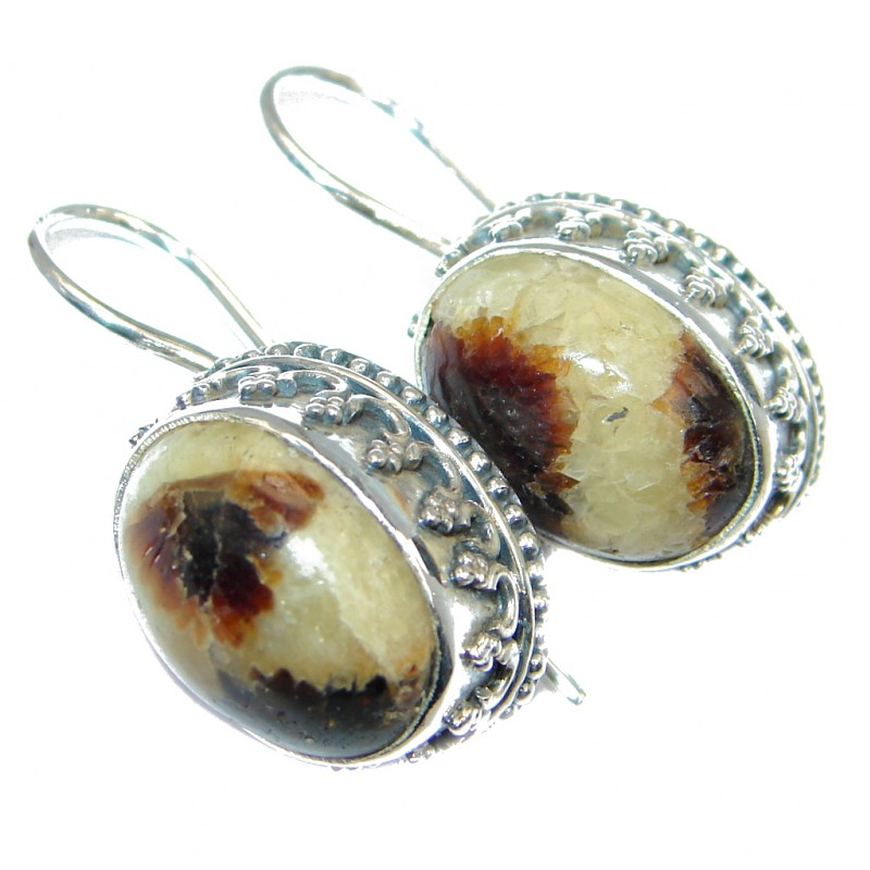 Vintage Design Nugget Jasper Silver Sterling handmade earrings