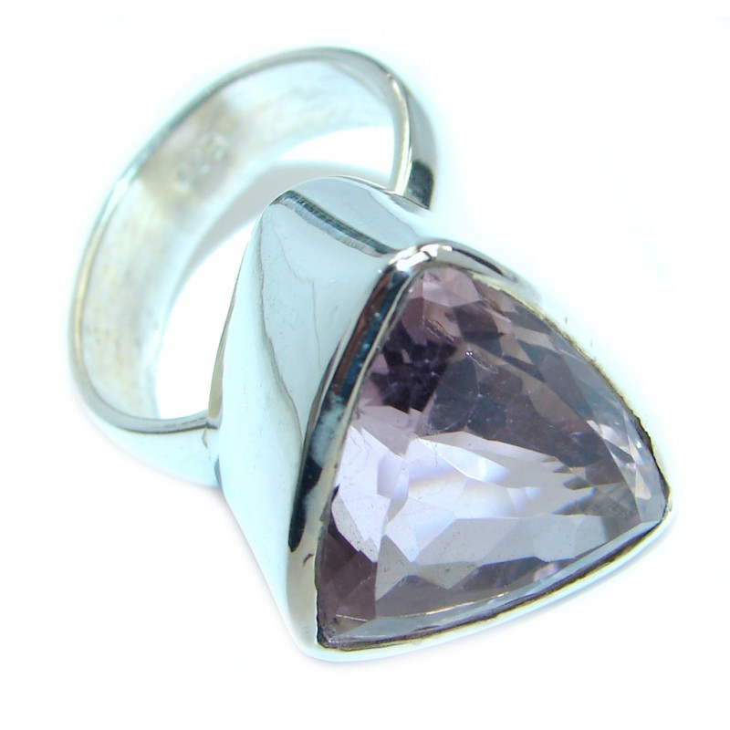 Amazing genuine 28ct Amethyst .925 Sterling Silver Ring size 8