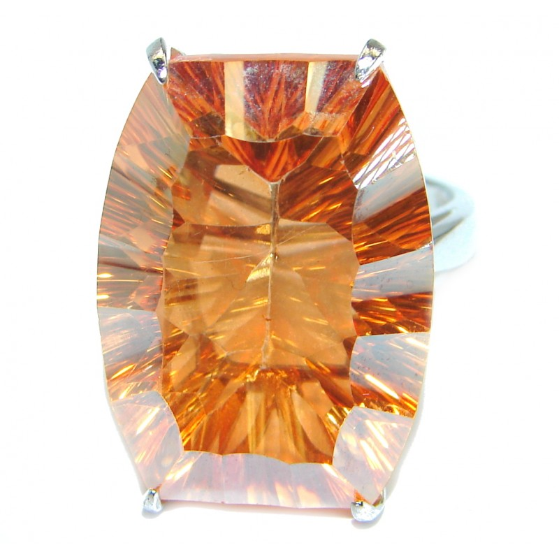 Summer Beauty Golden Topaz Sterling Silver .925 Ring size 8