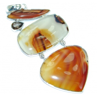 Jumbo Best quality Montana Agate Sterling Silver handcrafted Pendant