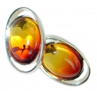 Genuine Baltic Polish Amber Sterling Silver handcrafted Earrings