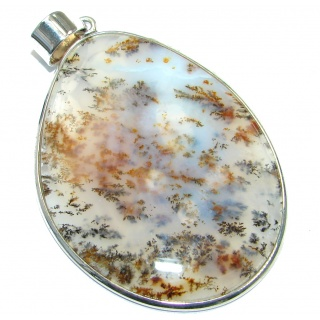 Best quality Montana Agate Sterling Silver handcrafted Pendant