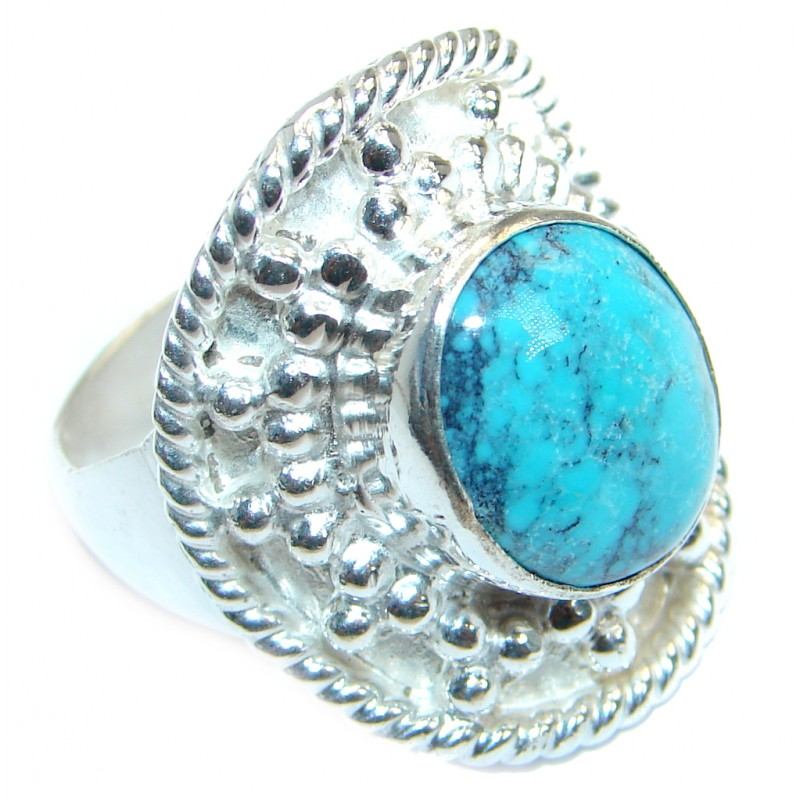 Good Energy Turquoise Silver Tone Ring s. 8 1/2