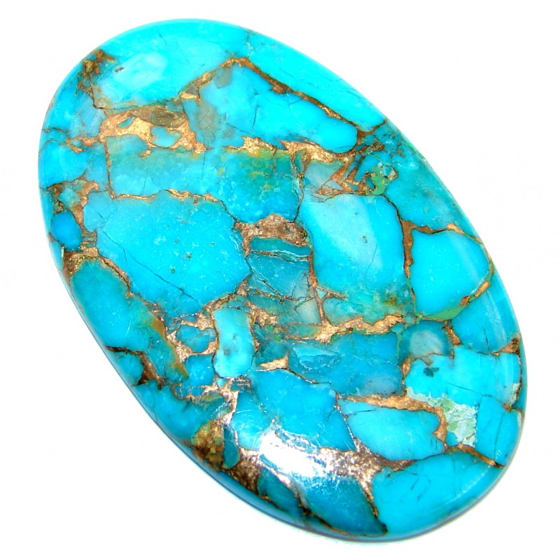 Big Blue Copper vains Turquoise 65 ct Stone