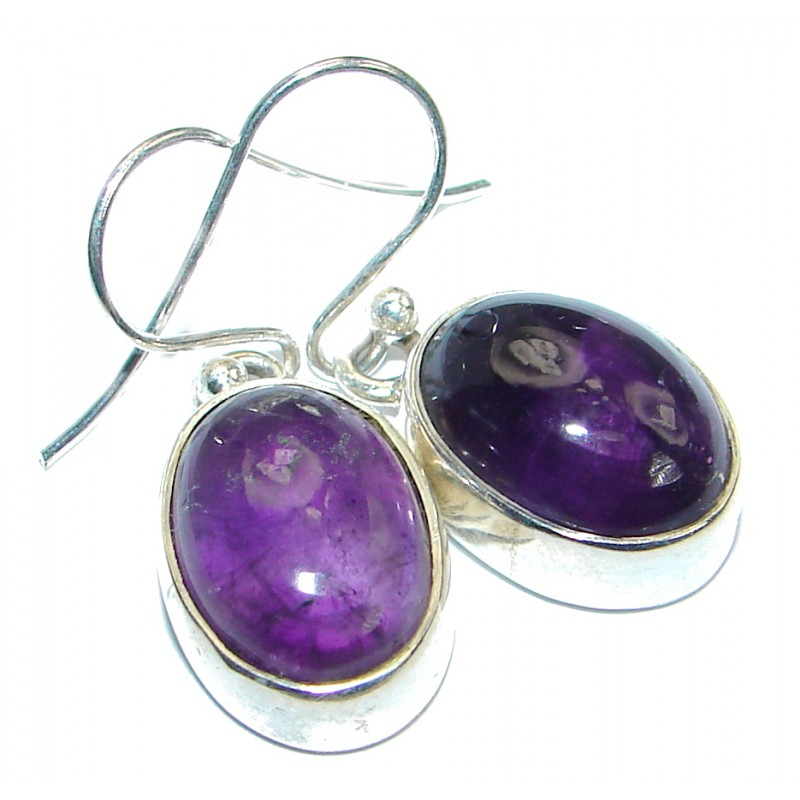 Jumbo Genuine Pink Amethyst .925 Sterling Silver handmade Earrings