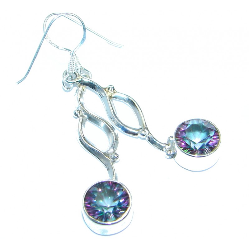 Bogo Style Blue Quartz .925 Sterling Silver handmade earrings