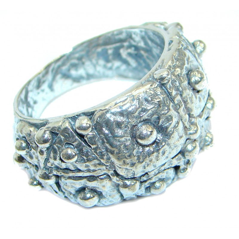 Sterling Silver handcrafted ring; s. 9