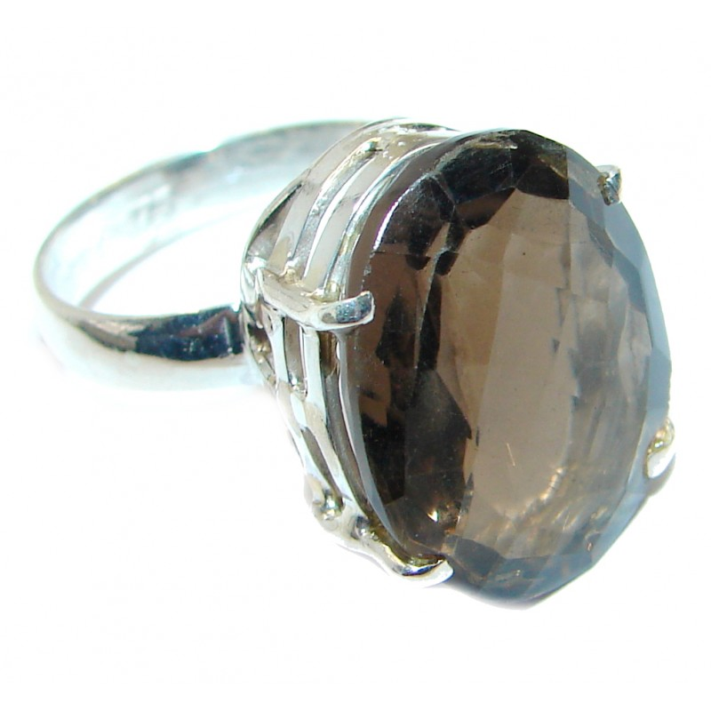 Amazing Smoky Topaz Sterling Silver ring s. 7 1/2