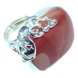 Australian Mookaite Sterling Silver Ring size 7 adjustable