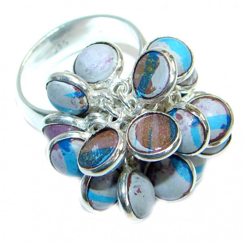 Great Quartz .925 Sterling Silver handmade Ring size 7