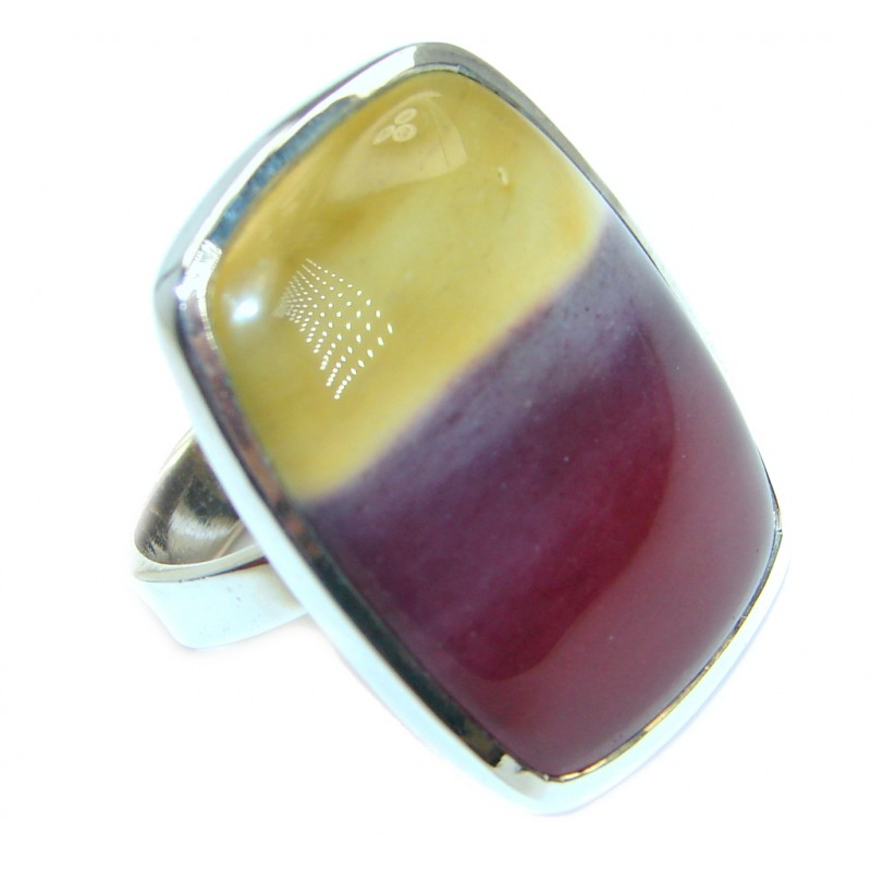 Australian Mookaite .925 Sterling Silver handcrafted Ring size 7