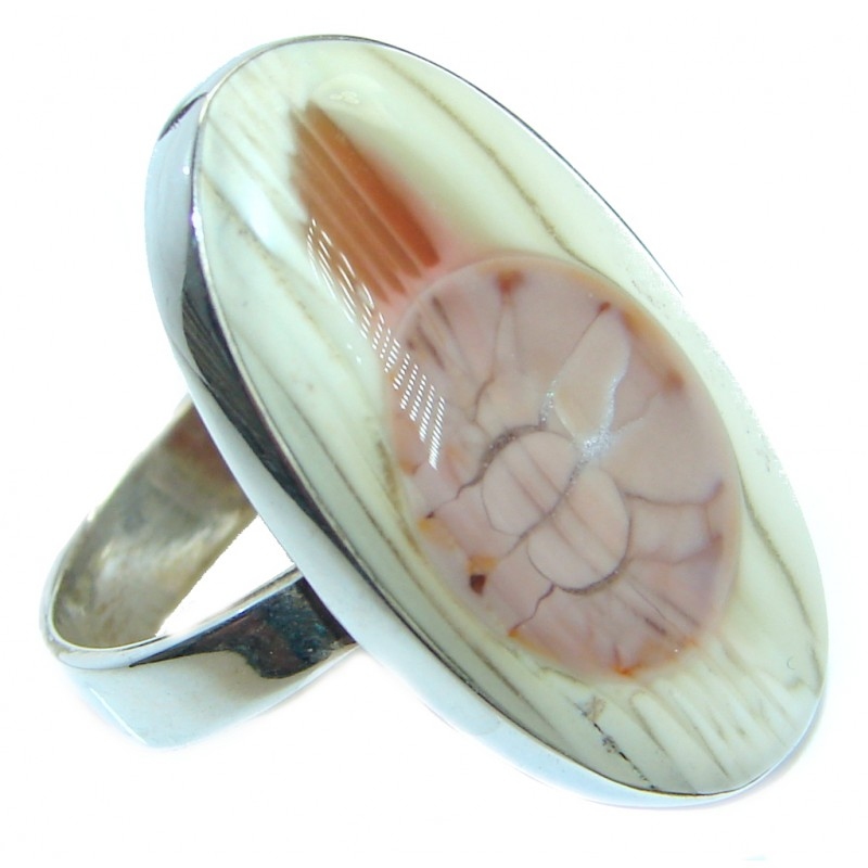 Simple Design authentic Imperial Jasper Sterling Silver ring size 9 3/4