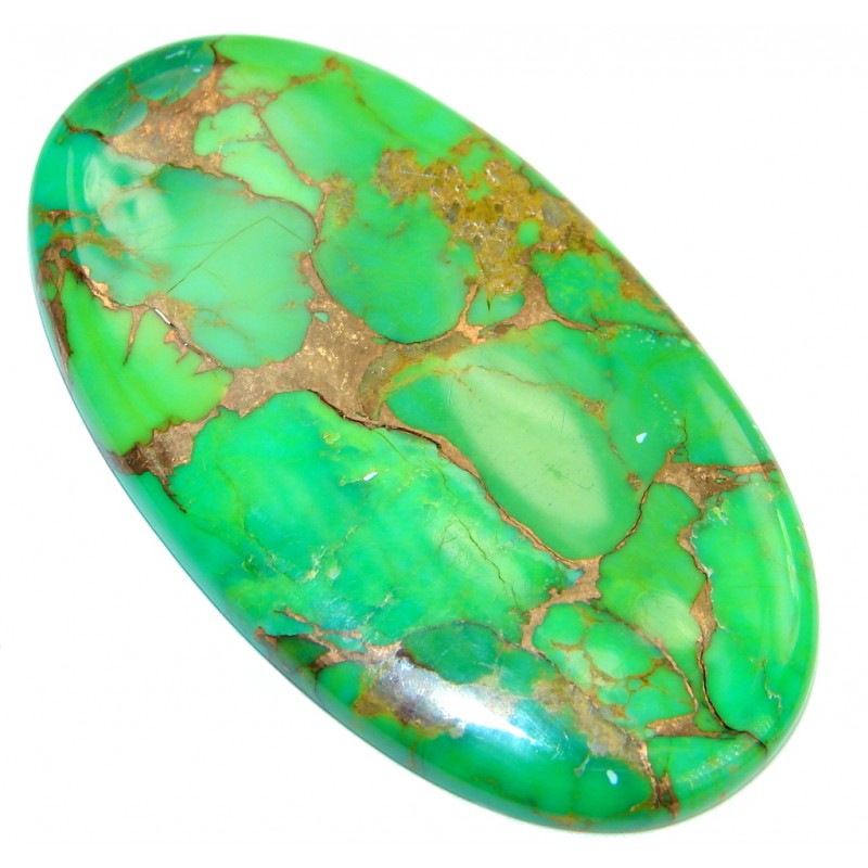 Big Green Copper vains Turquoise 52.5 ct Stone