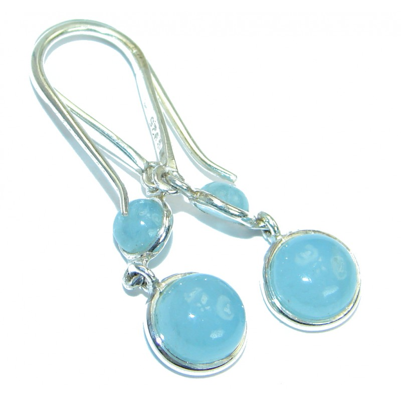 Sublime Aquamarine .925 Sterling Silver handmade earrings