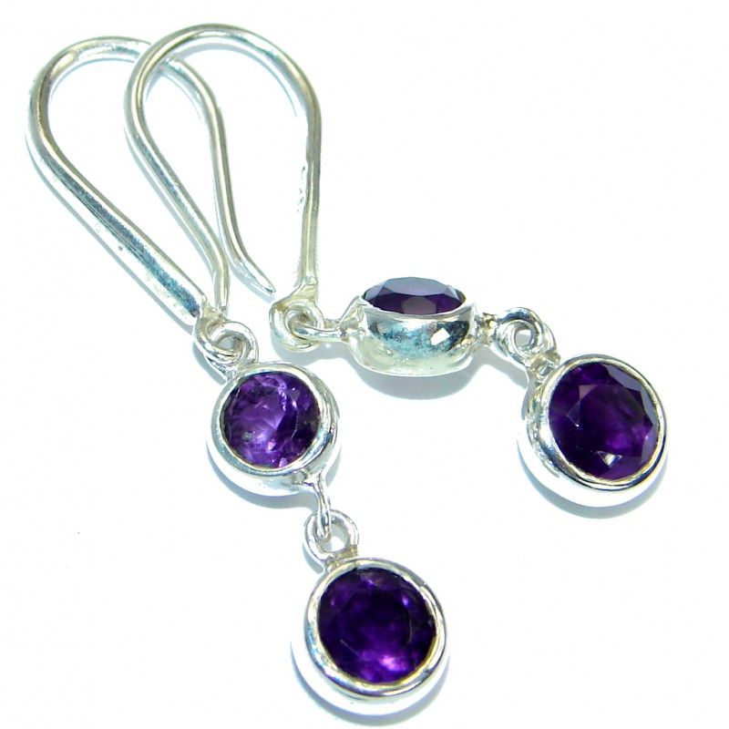 Delicate Beauty Purple Amethyst .925 Sterling Silver Earrings