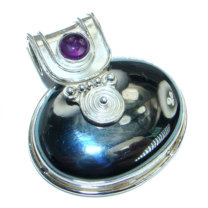 Exquisite Hematite .925 Sterling Silver handmade Pendant