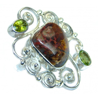Simply Beautiful Pietersite .925 Sterling Silver handmade Ring size 7 1/4