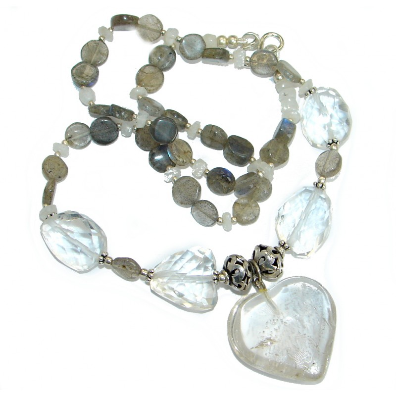 White Mountain Crystal Labradorite .925 Sterling Silver handcrafted necklace