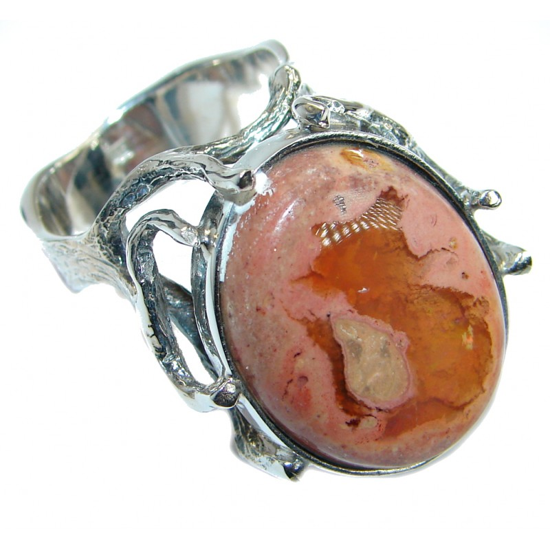 Classic Mexican Opal oxidized .925 Sterling Silver handcrafted ring size 9