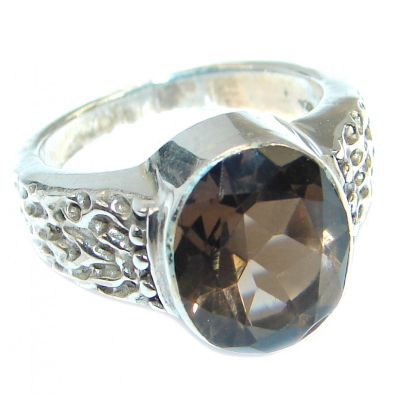 Amazing Smoky Topaz Sterling Silver ring s. 6 1/4