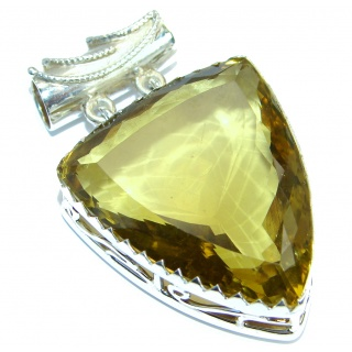 Golden Tears Genuine Citrine .925 Sterling Silver handcrafted pendant