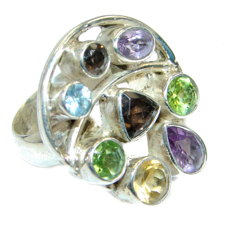 Energazing Multigem Sterling Silver Ring size 7 1/4