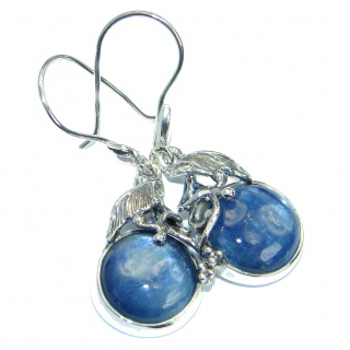 Chunky Beauty natural African Kyanite .925 Sterling Silver handmade earrings