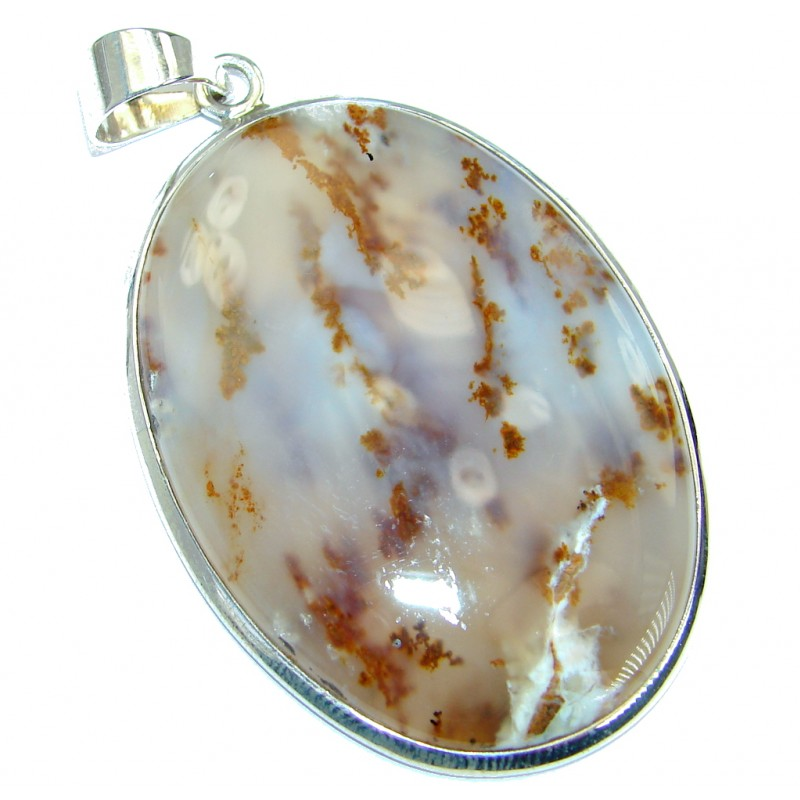 Best quality Montana Agate .925 Sterling Silver handcrafted Pendant