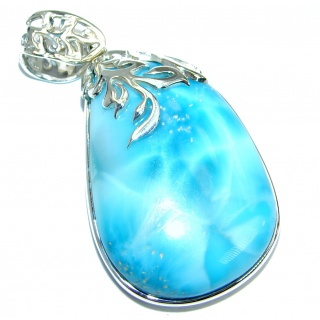 Great quality Beautiful genuine Larimar .925 Sterling Silver handmade pendant