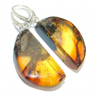 Back to Nature Baltic Amber .925 Sterling Silver handmade earrings