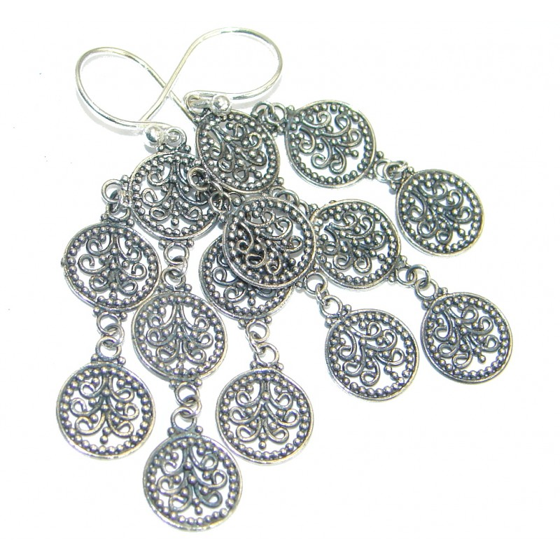 Sublime .925 Sterling Silver handcrafted earrings