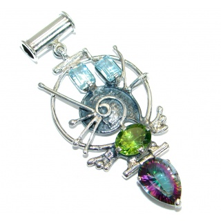 From the sea Multigem .925 Sterling Silver handmade Pendant