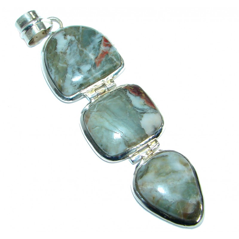 Intense Collected Storm Jasper .925 Sterling Silver handmade Pendant