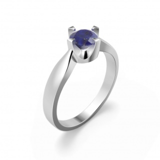 Elegant ring in sterling silver with a lapis lazuli
