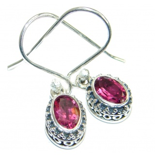 Perfect genuine Ruby handmade .925 Sterling Silver handmade earrings