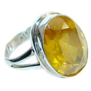 Energazing Citrine .925 Sterling Silver handmade Cocktail Ring size 9 1/4