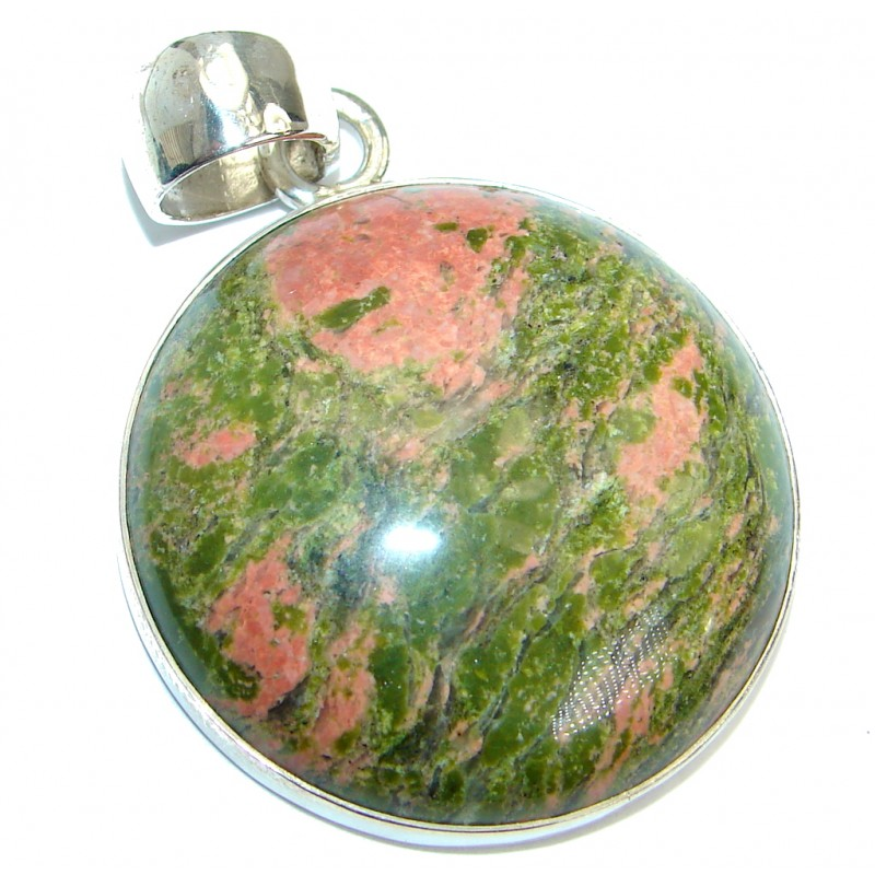 Perfect Harmony great quality Russian Unakite Sterling Silver handmade Pendant