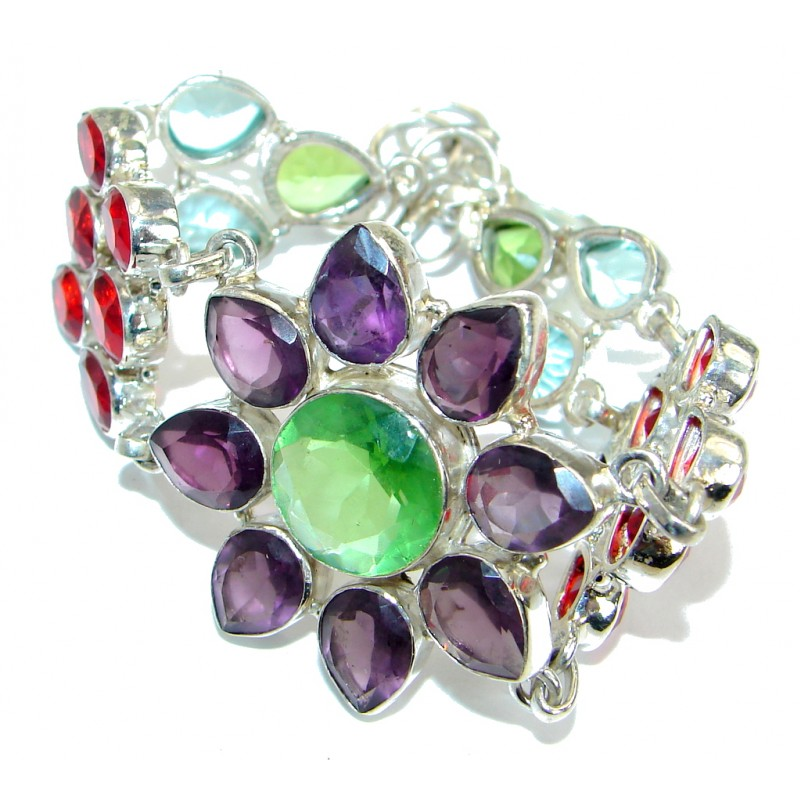 Cute Design Quartz .925 Sterling Silver handmade Bracelet