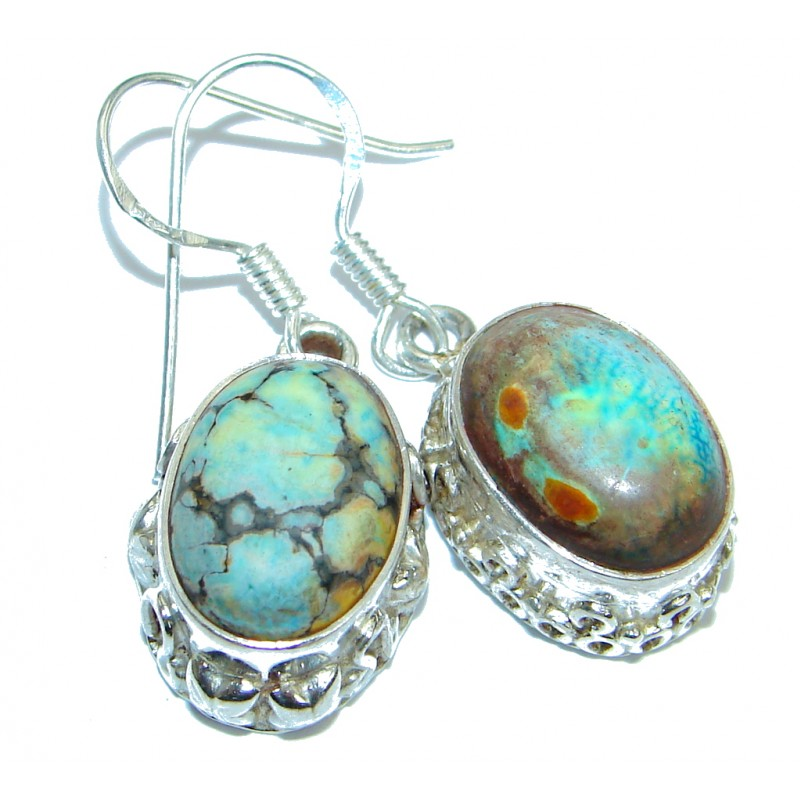 Boho Style Turquoise .925 Sterling Silver earrings