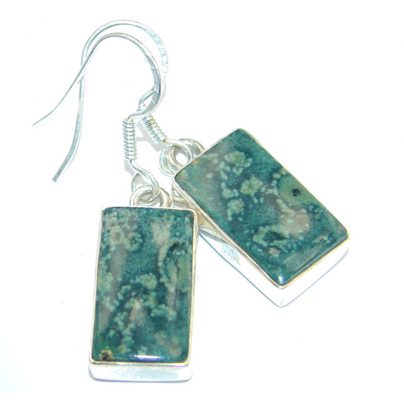 Blooming Garden Rhyolite Sterling Silver earrings