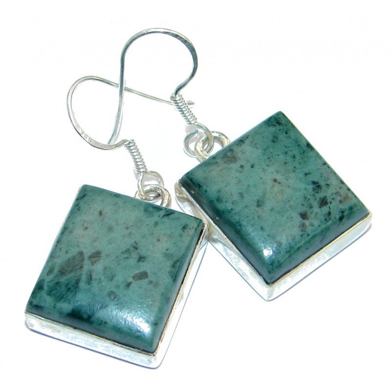 Blooming Garden Rhyolite .925 Sterling Silver earrings